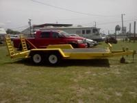 Heavy Duty car hauler with brakes. Body Style: Car