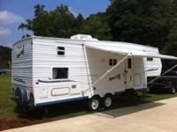 2003 Jayco JayFlight.  This camper is 28 1/2 ft long
