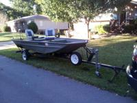 2003 Polar Kraft 14' Aluminum Boat for sale. Deep Hull