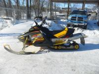 Up for auction is stock #5082 is a 2003 Ski Doo MXZ 800