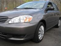 2003 TOYOTA COROLLA CE 4dr . Vehicle is in original