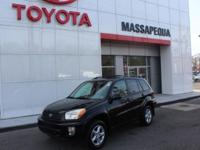 This 2003 Toyota RAV4 ONE OWNER is offered to you for