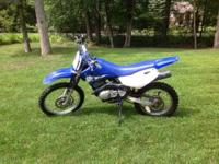 Up for sale is a Yamaha TTR 125 dirt bike. My son no