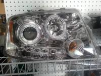 Brand New  Chrome Halo headlights with leds  They have