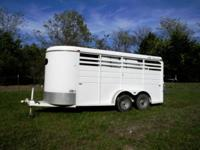 2004 CM Dakota 3-Horse slant trailer with tack/dressing
