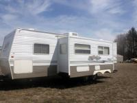 This 31' 2004 Layton Skyline Bunkhouse travel trailer
