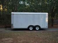 2004 Cargo Express Enclosed Trailer. Has side entry and