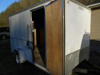 2004 7X12 BOX TRAILER WITH SIDE DOOR AND RAMP DOOR