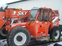 2004 8042 Skytrack Forklift Cab-Heat, 4500 Hours Please