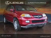 Clean CARFAX. Leather.  2004 Acura MDX Touring 3.5L V6