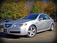 This Acura TSX has a sporty six speed manual