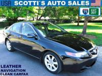 2004 ACURA TSX w/NAVIGATION..VERY GOOD CONDITION..CLEAN