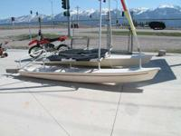 2004 AQUA CAT CATAMARAN 12.5. Consists of black mesh