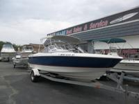 This 2004 Bayliner 2150 Bow Rider is powered by a 5.0