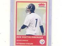 2004 BEN ROETHLISBERGER FLEER ROOKIE CARD MINT-MINT