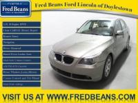 This 2004 BMW 525i comes with a clean CARFAX history