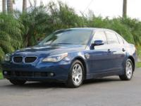2004 BMW 525I, AUTO, ICE COLD A/C, FULLY LOADED, PW,
