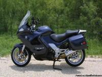 2004 BMW K1200GT Dark Blue with removable bags and BMW