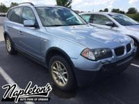 Recent Arrival! 2004 BMW X3 in Blue. Clean CARFAX.