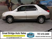 Clean CARFAX. Olympic White 2004 Buick Rendezvous CX