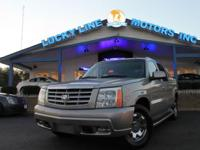 2004 Cadillac Escalade EXT 4WD with powerful V8, 6.0 L;