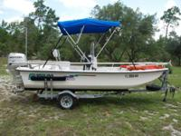 "2004 Carolina Skiff 1655 SEMI V 15' 10"" with Center"