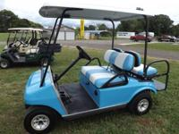 This is a 2004 Club Car Ds with new blue paint, new