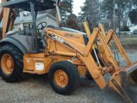 2004 Case 580-M turbo Backhoe Series 2 with Trailer.