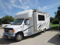 This 24 ft. Class C RV with slide and rear bathroom is