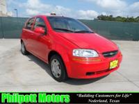 Options Included: N/A2004 Chevy Aveo, red with gray