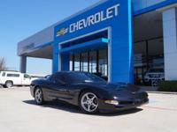 Corvette trim. Leather, Aluminum Wheels, Dual Zone A/C,