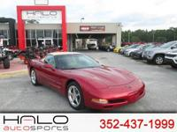2004 CHEVROLET CORVETTE CONVERTIBLE - RUBY RED WITH