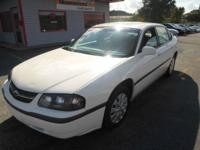 2004 CHEVY IMPALA BASE WHITE ON GRAY AUTOMATIC WITH