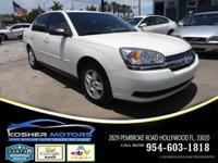 Options:  2004 Chevrolet Malibu Ls 4Dr Sedan|White|No