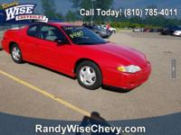 Victory Red 2004 Chevrolet Monte Carlo SS FWD 4-Speed