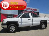 A rare truck, this four wheel-drive Silverado 2500HD