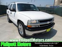 Options Included: N/A2004 Chevy Tahoe, white with gray