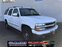 Clean CARFAX. Summit White 2004 Chevrolet Tahoe LT 4WD