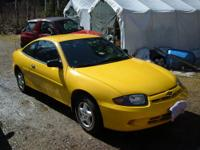 Nice yellow, very well maintained Chevy Cavalier 2 dr