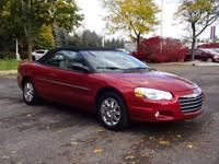 Options:  2004 Chrysler Sebring Limited|Red|Clean