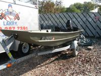 2004 Crestliner 12 foot flat bottom boat with a 1978?