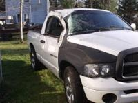 A 2004 dodge Ram 1500 short box with a V6,5 speed,with