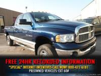 "Blue / Tan 2004 Dodge Ram 3500 4dr Quad Cab 140.5"" WB"