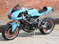 This Ducati was developed utilizing a low mileage 2001