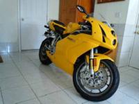 It is gorgeous Italian motorcycle in the best color it