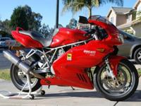 2004 Ducati supersport 800 with 22,XXX miles on. This