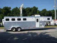2004 Exiss (4) horse slant load living quarter trailer