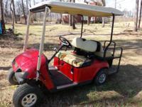 EZGO TXT Red golf cart. new batteries, 2004. Needs a