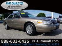 Clean CARFAX. Beige 2004 Ford Crown Victoria LX RWD