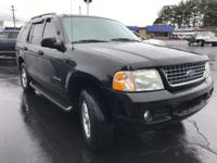 Clean CARFAX. Black Clearcoat 2004 Ford Explorer 4WD